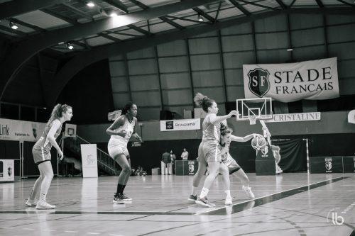 projet #allezlesfilles - basketball le stade francais face a mondeville par laurence bichon