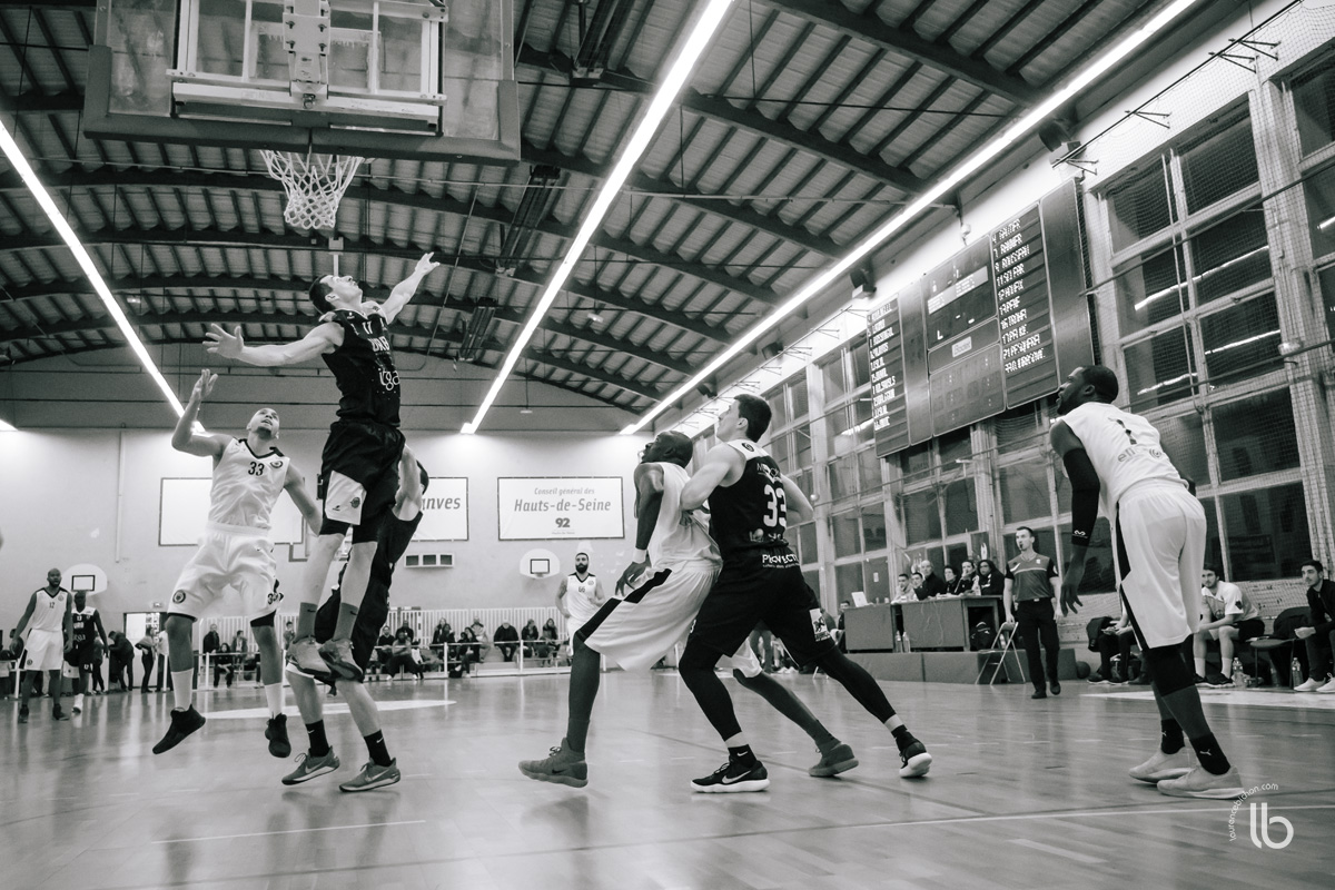 basketball en noir et blanc - black and white basketball - nm2 vanves vs rennes - laurence bichon #sport, photographe freestyle