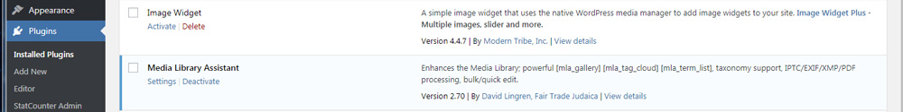 plugin WordPress pour Lightroom : Media Library Assistant