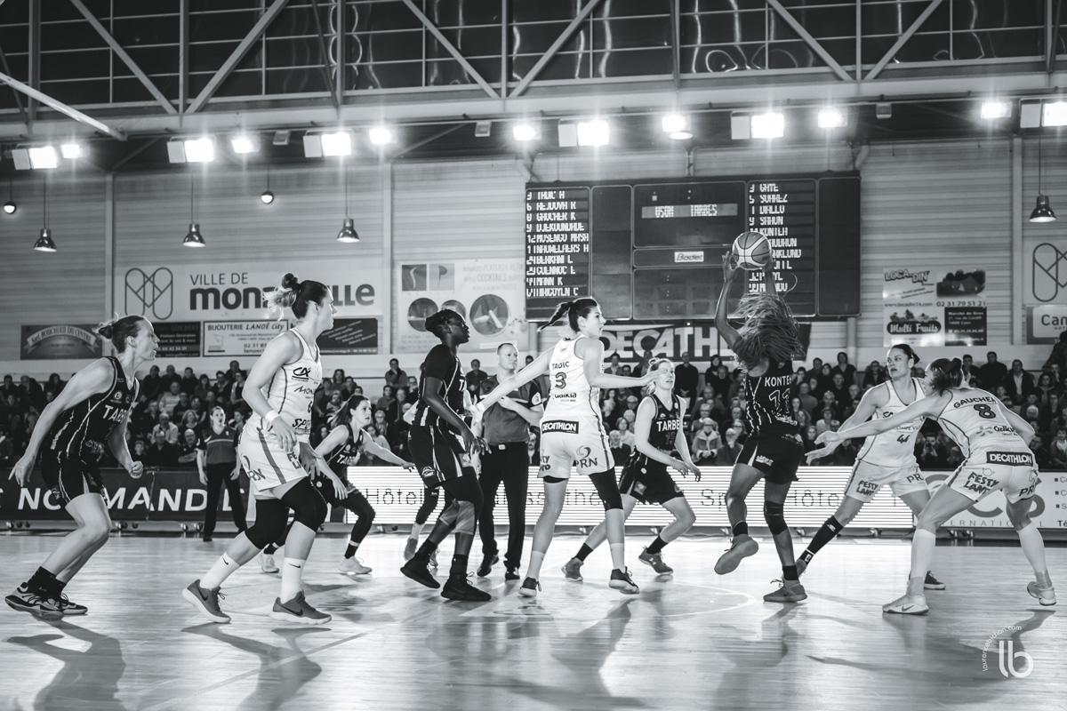 projet #allezlesfilles - basketball lfb Mondeville rencontre Tarbes par laurence bichon