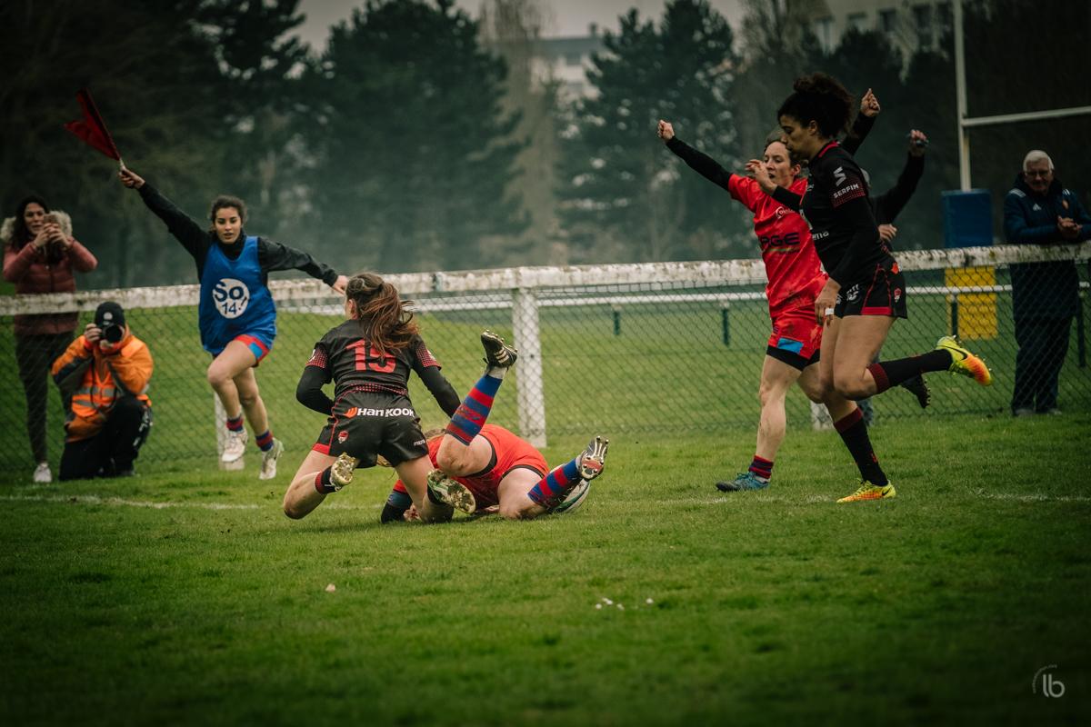 #allezlesfilles - rugby feminin  Caen Ovalies - Lyon par laurence bichon - #whysportproject