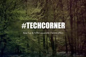 techcorner - raw fuji and effet aquarelle - worm effect