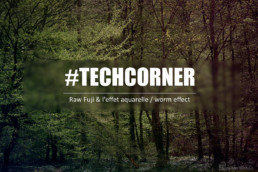 techcorner - raw fuji and effet aquarelle - worm effect