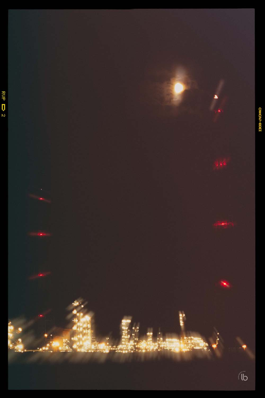 Lune et docks la nuit - laurence bichon photographe