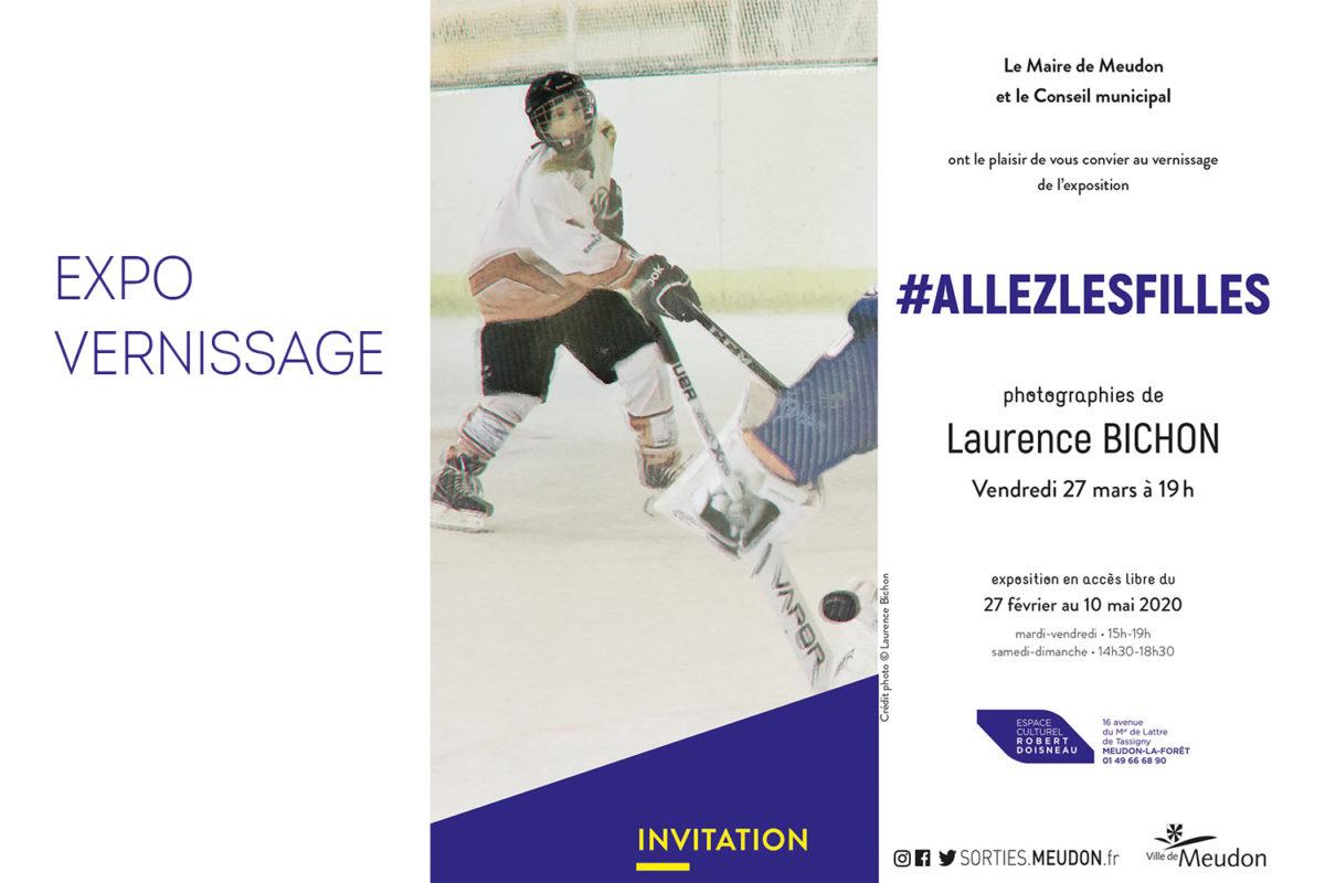 Invitation au vernissage de l'exposition de photographies #AllesLesFilles à l'Espace Culturel Robert Doisneau de Meudon-la-Forêt par Laurence Bichon photographe