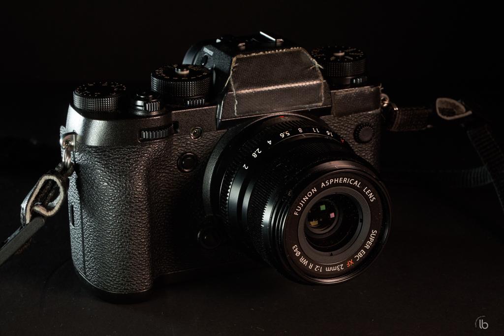 Picture of my Fujifilm X-T2 camera with Fufinon 23mm f2.