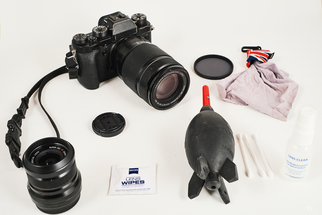 Tools to clean my Fuji camera and lenses